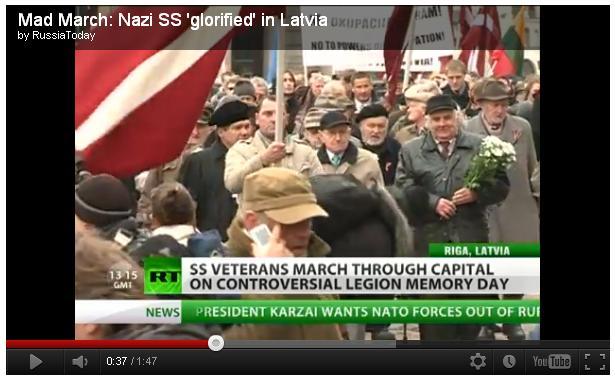 Waffen-SS-Veteran in Riga 2012