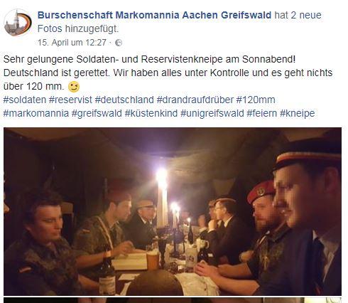 Soldaten- und Reservistenkneipe der Burschenschaft Markomannia