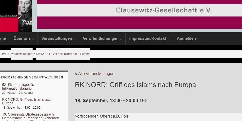 Vortrag Clausewitz-Gesellschaft