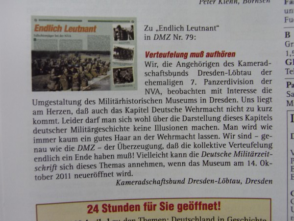 DMZ-Leserbrief