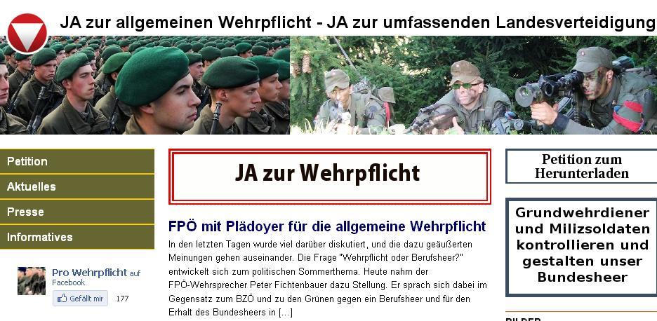 FPÖ pro Wehrpflicht