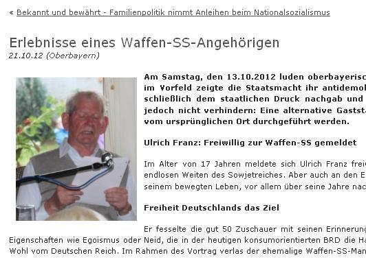 Franz Ullrich von der Waffen-SS
