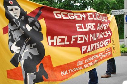 Kreta-Gedenken Protest