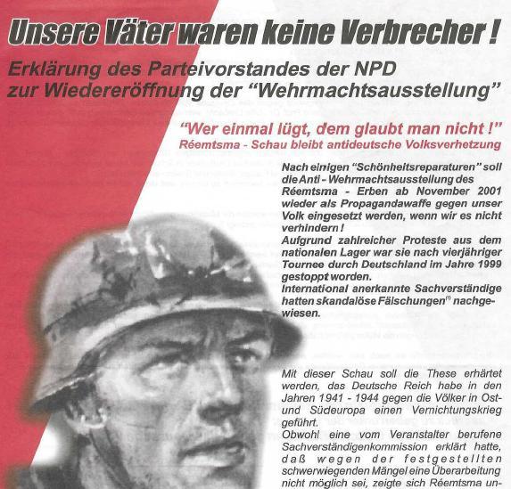 NPD pro Wehrmacht