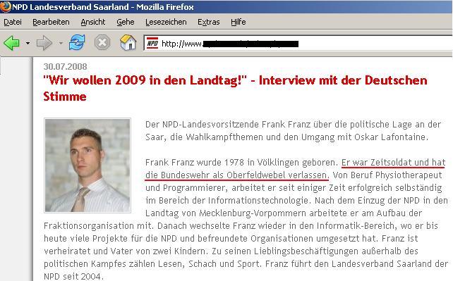 NPD-Vorsitzender Saarland