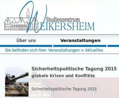 Sicherheitspolitisches Seminar des SZW 2015