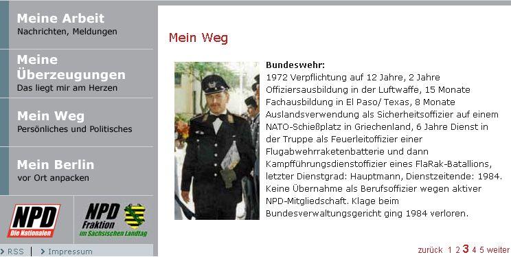 NPD-Chef als Soldat