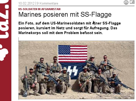 SS-Flagge US-Marines