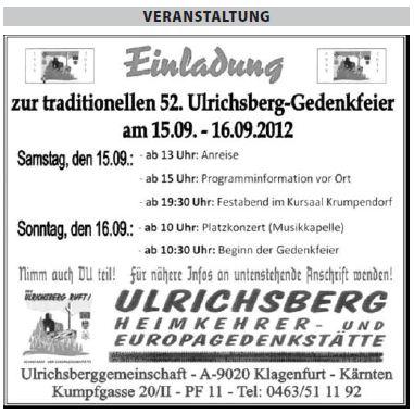 Ulrichsberg-Treffen 2012